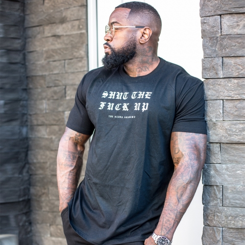 Shut The Fuck Up - Tee - Black