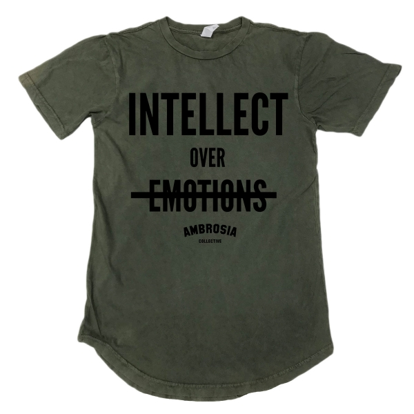 Intellect Over Emotions Vintage Scoop Tee