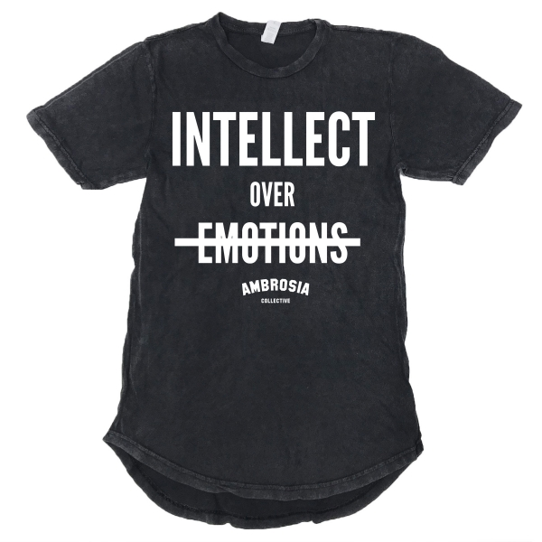 Intellect Over Emotions Vintage Scoop Tee - Black
