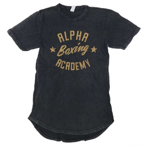 Alpha Boxing Vintage Scoop Tee - Black